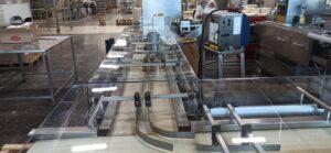 Akrilna zaštita proizvodne linije